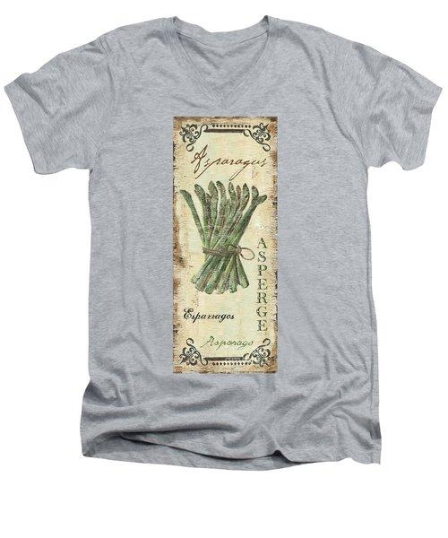 Vintage Vegetables 1 Men's V-Neck T-Shirt by Debbie DeWitt