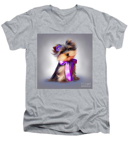 Violet  Men's V-Neck T-Shirt