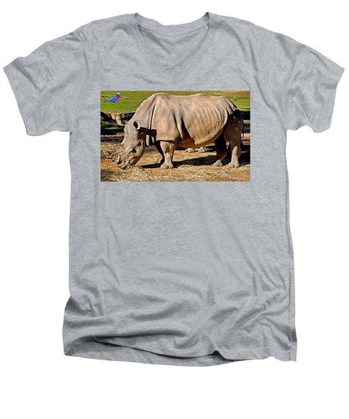 Vip Cockatoo Visitor Gets Closer Look Men's V-Neck T-Shirt