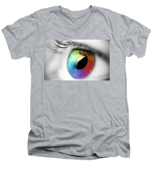 Vision Of Color Men's V-Neck T-Shirt by Gianfranco Weiss