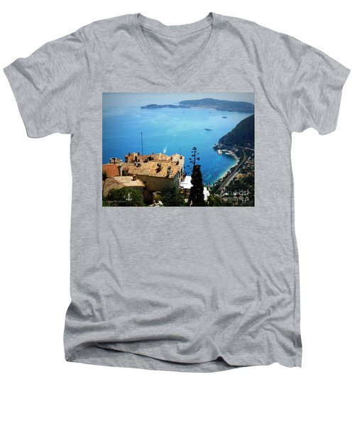 Vista From Eze Men's V-Neck T-Shirt by Lainie Wrightson
