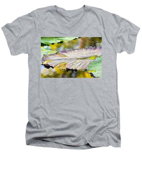 Vitality Men's V-Neck T-Shirt by Alycia Christine