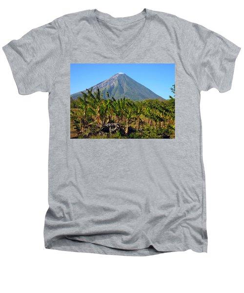 Volcan Concepcion Nicaragua Men's V-Neck T-Shirt