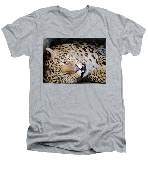Voodoo The Leopard Men's V-Neck T-Shirt