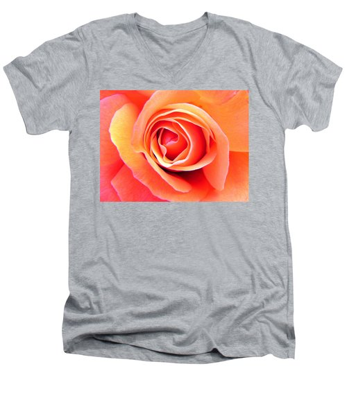 Men's V-Neck T-Shirt featuring the photograph Vortex by Deb Halloran