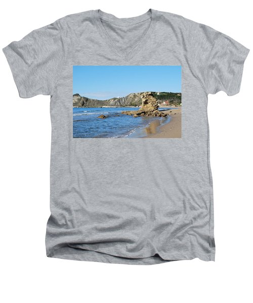 Men's V-Neck T-Shirt featuring the photograph Vouno 2 by George Katechis