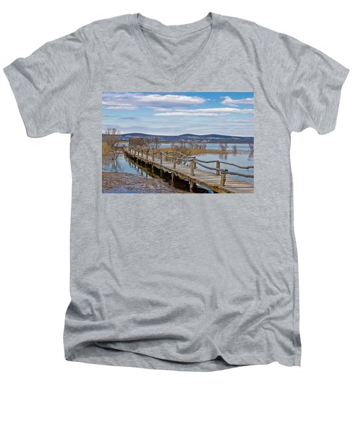 Vransko Lake Nature Park Bird Observatory Men's V-Neck T-Shirt