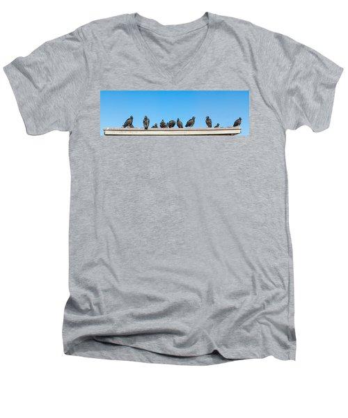 Vultures On Anhinga Trail, Everglades Men's V-Neck T-Shirt