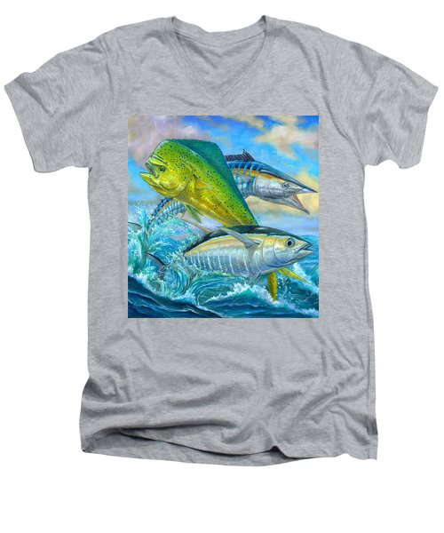 Wahoo Mahi Mahi And Tuna Men's V-Neck T-Shirt