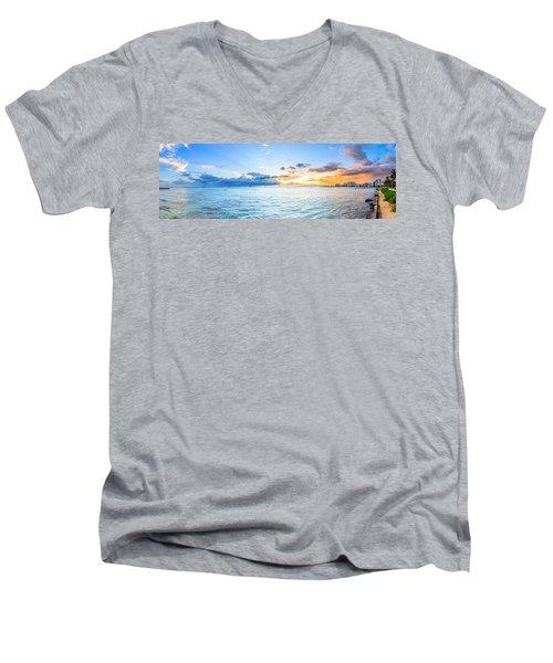 Waikiki Sunset After An Afternoon Thunderstorm Men's V-Neck T-Shirt