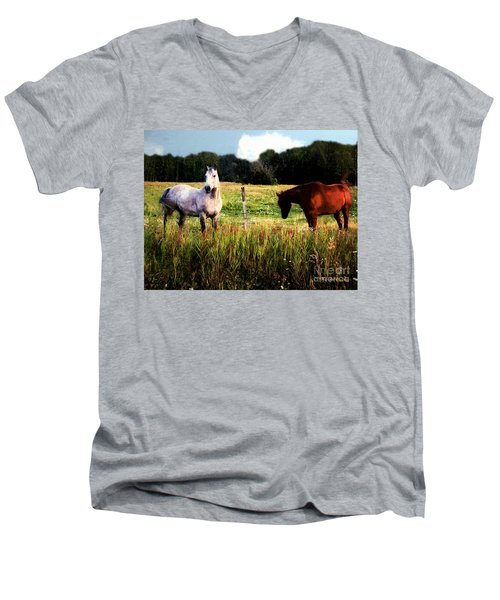 Waiting For Apples Men's V-Neck T-Shirt by RC deWinter