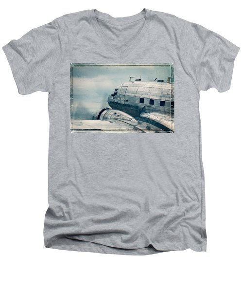 Waiting For Take Off Men's V-Neck T-Shirt