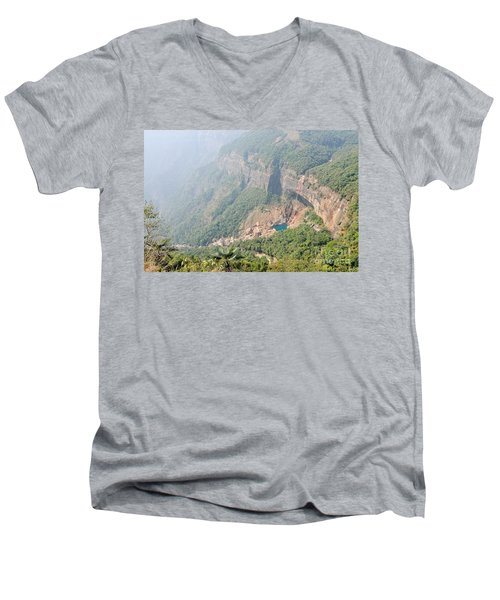Waiting For The Monsoons Men's V-Neck T-Shirt by Fotosas Photography