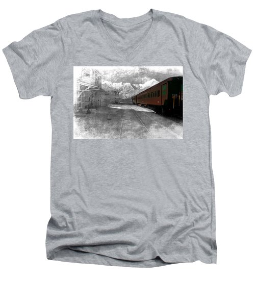 Waiting For The Take Off Men's V-Neck T-Shirt