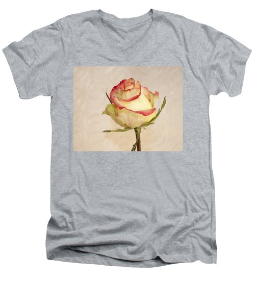 Men's V-Neck T-Shirt featuring the photograph Waiting For The Unfurling by Sandra Foster