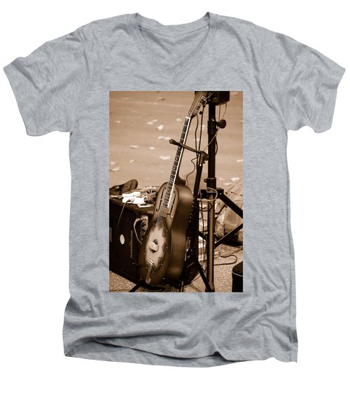 Waiting To Be Played Men's V-Neck T-Shirt by Holly Blunkall