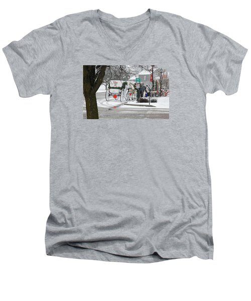 Waiting To Give A Ride Men's V-Neck T-Shirt by Janice Adomeit