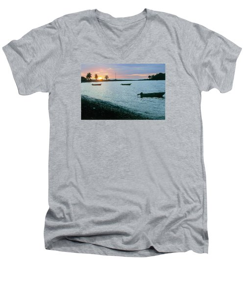 Waitukubuli Sunset Men's V-Neck T-Shirt