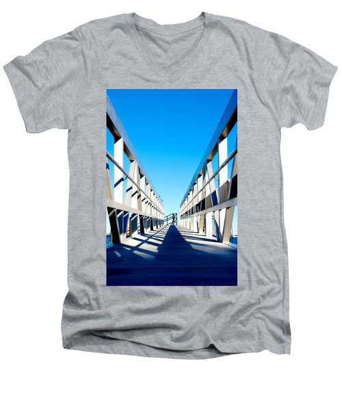 Walk Away Men's V-Neck T-Shirt by Greg Fortier
