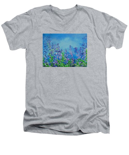 Walk Out Into The Fields Men's V-Neck T-Shirt by Dan Whittemore