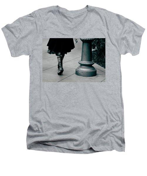 Walk This Way Men's V-Neck T-Shirt