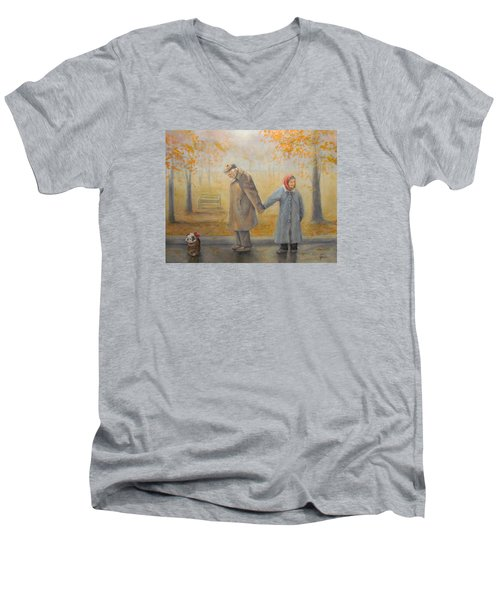 Walking Miss Daisy Men's V-Neck T-Shirt