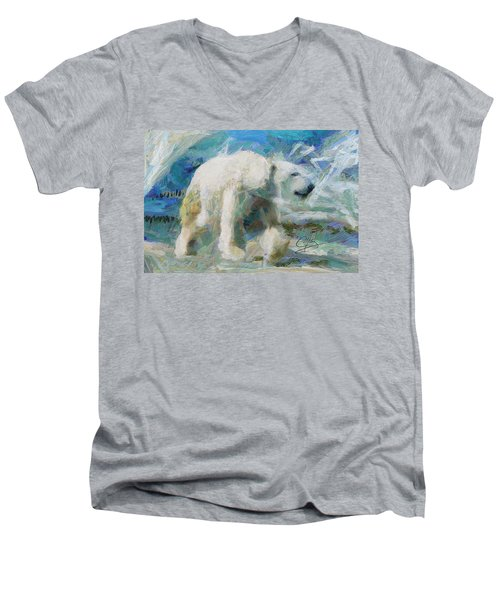 Cold As Ice Men's V-Neck T-Shirt by Greg Collins