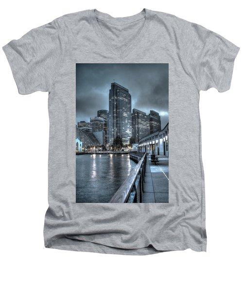 Walking The Embarcadero San Francisco Men's V-Neck T-Shirt