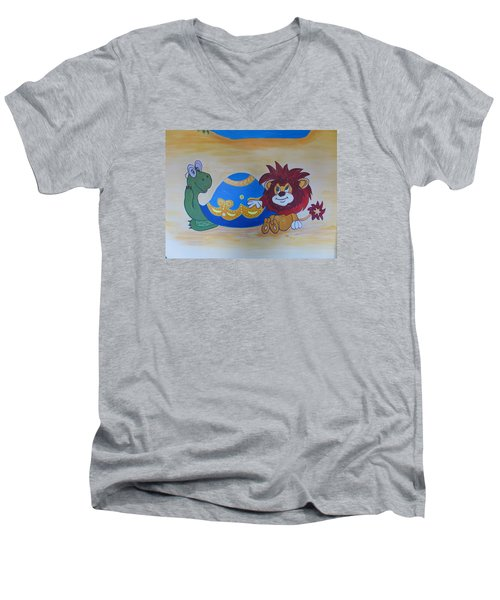 Wall Painting Men's V-Neck T-Shirt