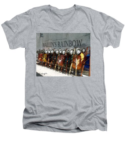 Wallin's Rainbow Men's V-Neck T-Shirt