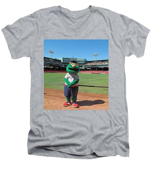 Men's V-Neck T-Shirt featuring the photograph Wally by Barbara McDevitt