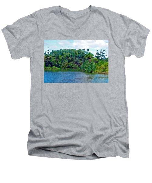 Waoleke Pond Forest Men's V-Neck T-Shirt