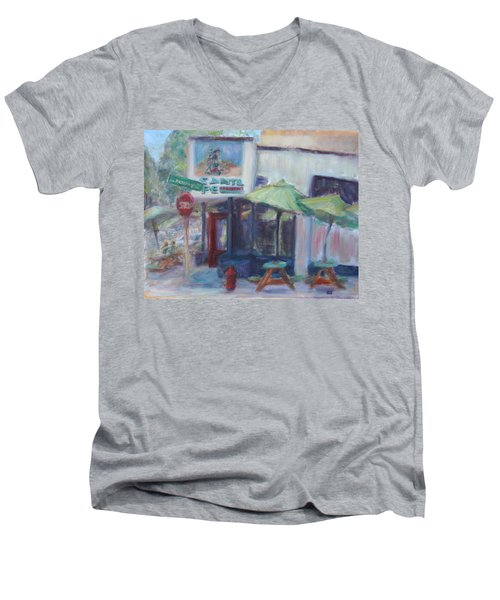 Warm Afternoon In The City  Men's V-Neck T-Shirt