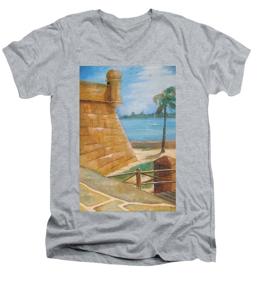Warm Days In St. Augustine Men's V-Neck T-Shirt