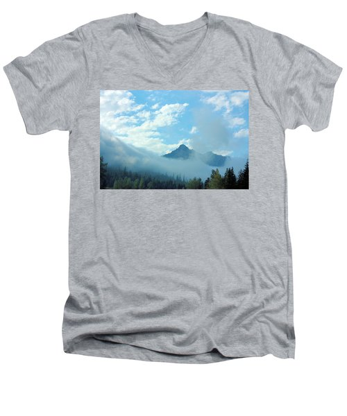 Men's V-Neck T-Shirt featuring the photograph Washington State by Kristin Elmquist