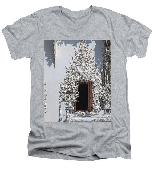 Wat Rong Khun Ubosot Window Dthcr0042 Men's V-Neck T-Shirt