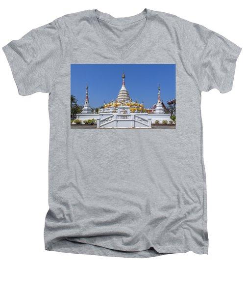 Wat Songtham Phra Chedi Dthb1915 Men's V-Neck T-Shirt