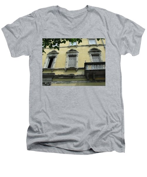 Men's V-Neck T-Shirt featuring the photograph Watch Your Step by Natalie Ortiz