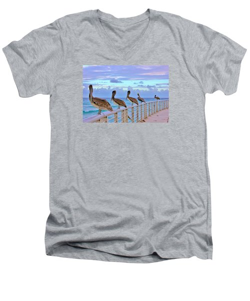 Watching The Ocean Men's V-Neck T-Shirt