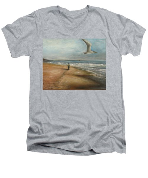 Watching The Show Men's V-Neck T-Shirt