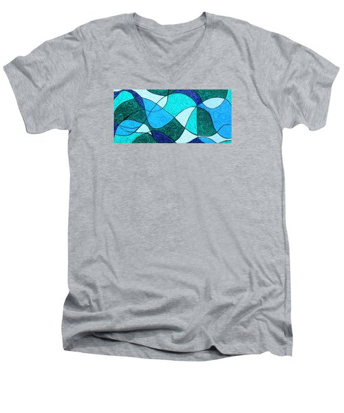 Water Abstract Men's V-Neck T-Shirt