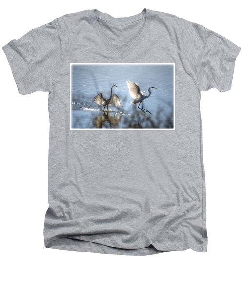 Water Ballet  Men's V-Neck T-Shirt