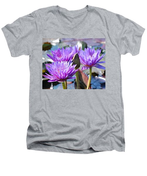 Men's V-Neck T-Shirt featuring the photograph Water Flower 1006 by Marty Koch