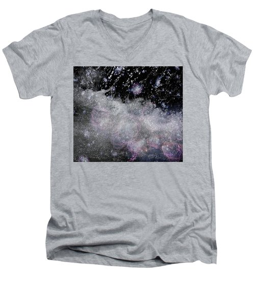 Water Flowing Into Space Men's V-Neck T-Shirt