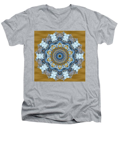 Water Patterns Kaleidoscope Men's V-Neck T-Shirt