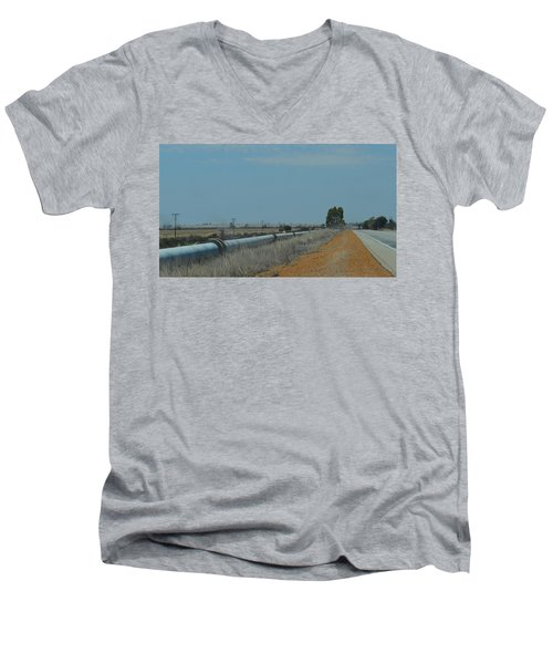 Water Pipeline Men's V-Neck T-Shirt