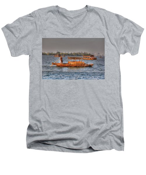 Water Taxi In China Men's V-Neck T-Shirt