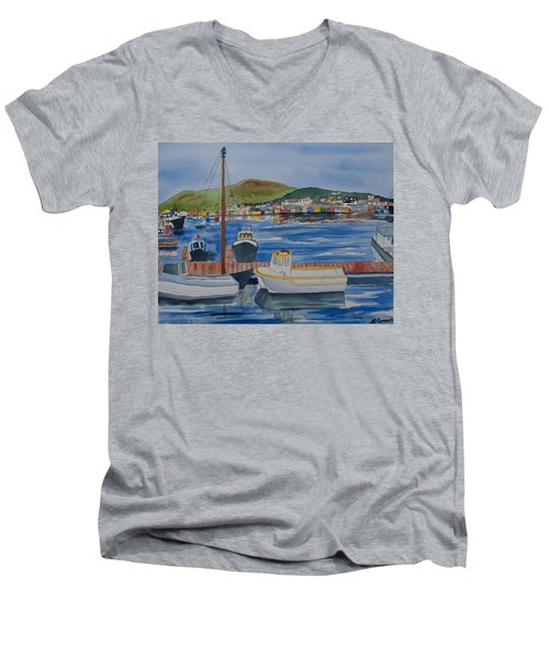 Watercolor - Dingle Ireland Men's V-Neck T-Shirt