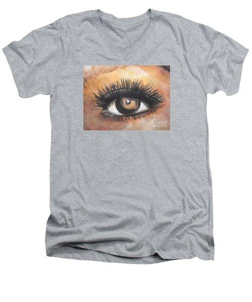 Watercolor Eye Men's V-Neck T-Shirt by Chrisann Ellis