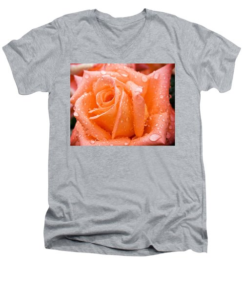 Watered Rose Men's V-Neck T-Shirt
